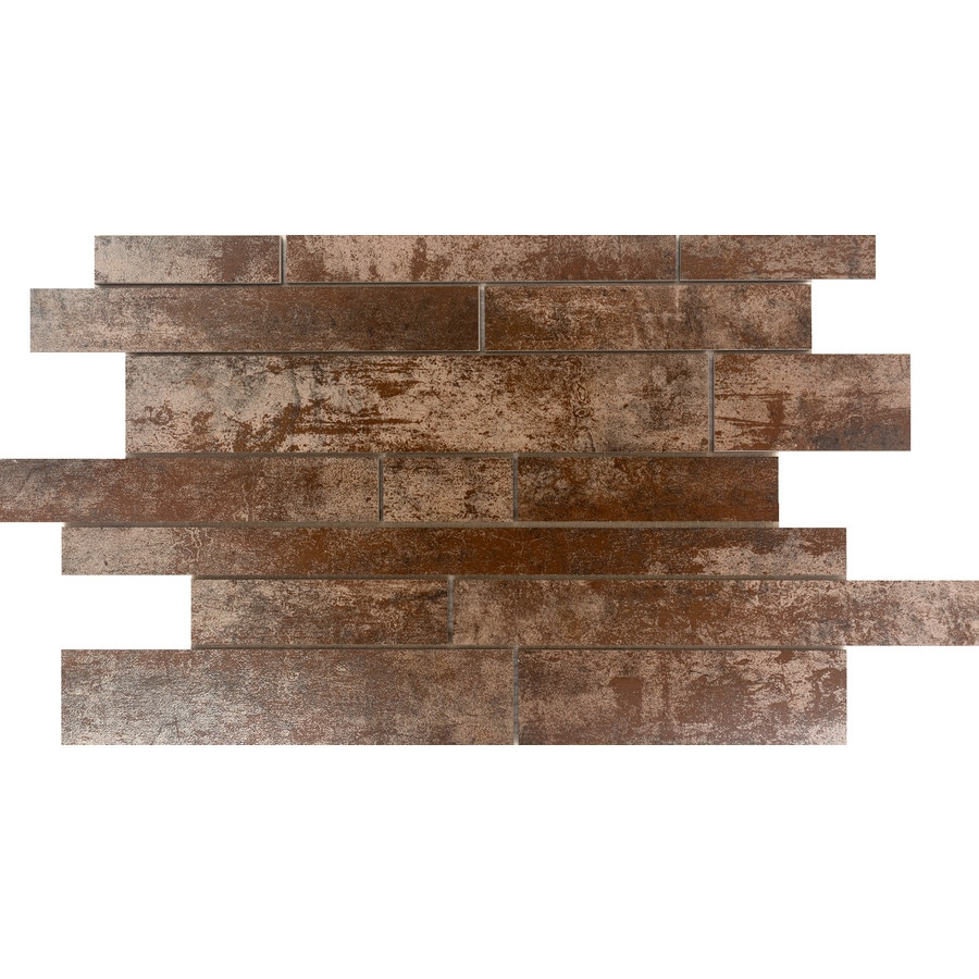 Emser ALCHEMY Copper Porcelain Border Tile (Common: 12-in x 18-in; Actual: 12.41-in x 18.98-in)