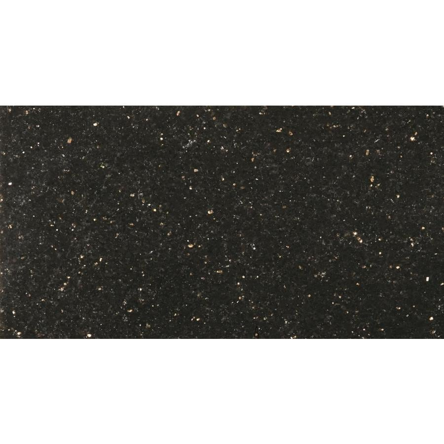 Shop Emser Granite 6 Pack Galaxy Black Granite Floor And Wall Tile