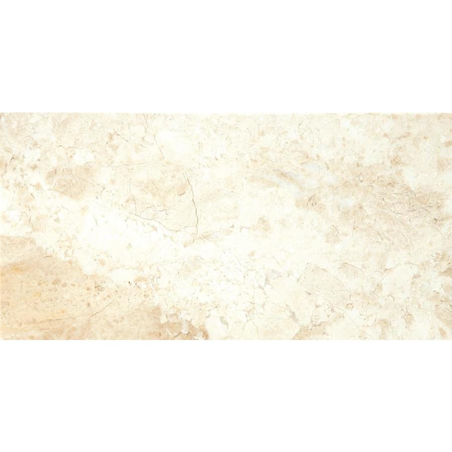 Emser MILANO BEIGE Marble Floor and Wall Tile (Common: 12-in x 24-in; Actual: 12-in x 24-in)