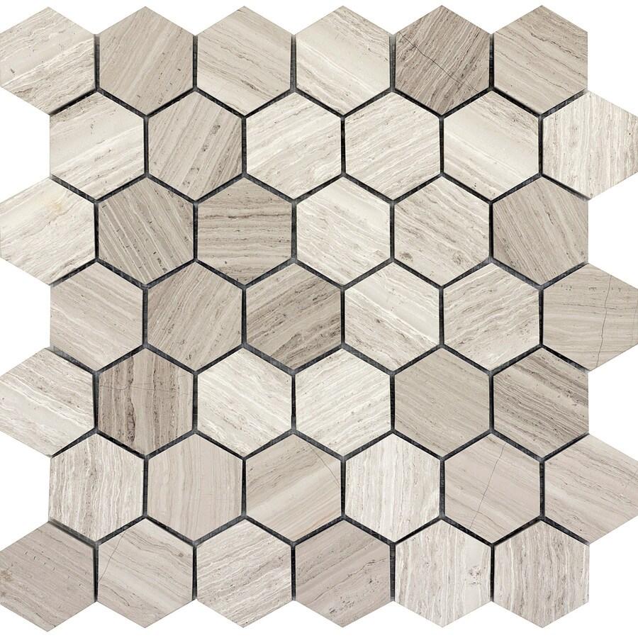 Emser Metro Cream Limestone Border Tile (Common: 12-in x 12-in; Actual: 12.01-in x 11.73-in)