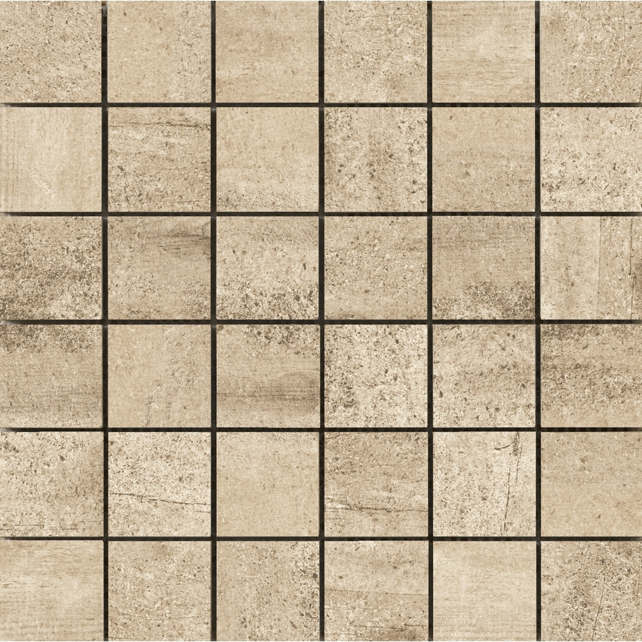 Emser Explorer 10-Pack Barcelona Square Mosaic Wood Look Porcelain Floor and Wall Tile (Common: 13-in x 13-in; Actual: 12.99-in x 12.99-in)