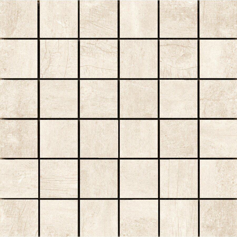Emser Explorer 10-Pack Milan Square Mosaic Wood Look Porcelain Floor and Wall Tile (Common: 13-in x 13-in; Actual: 12.99-in x 12.99-in)