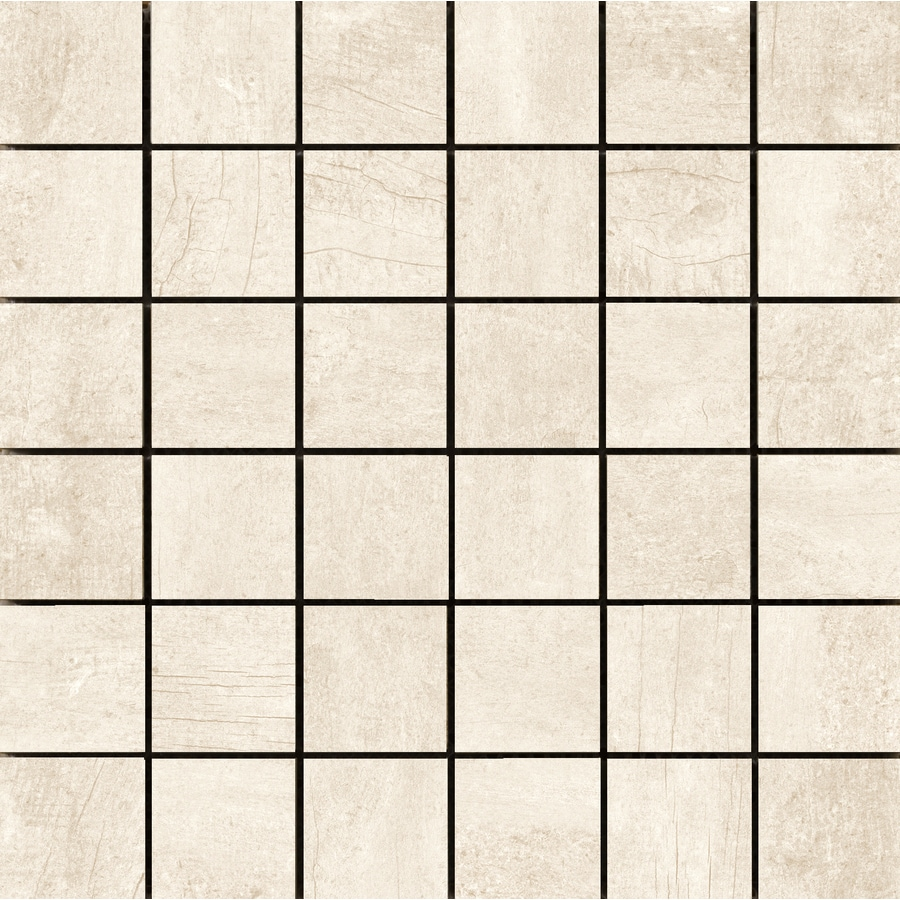 Emser Explorer 10-Pack Milan Uniform Squares Mosaic Wood Look Porcelain Floor and Wall Tile (Common: 13-in x 13-in; Actual: 12.99-in x 12.99-in)