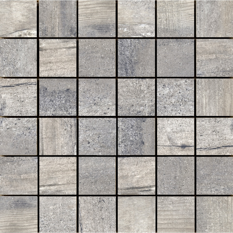 Emser Explorer 10-Pack Paris Square Mosaic Wood Look Porcelain Floor and Wall Tile (Common: 13-in x 13-in; Actual: 12.99-in x 12.99-in)