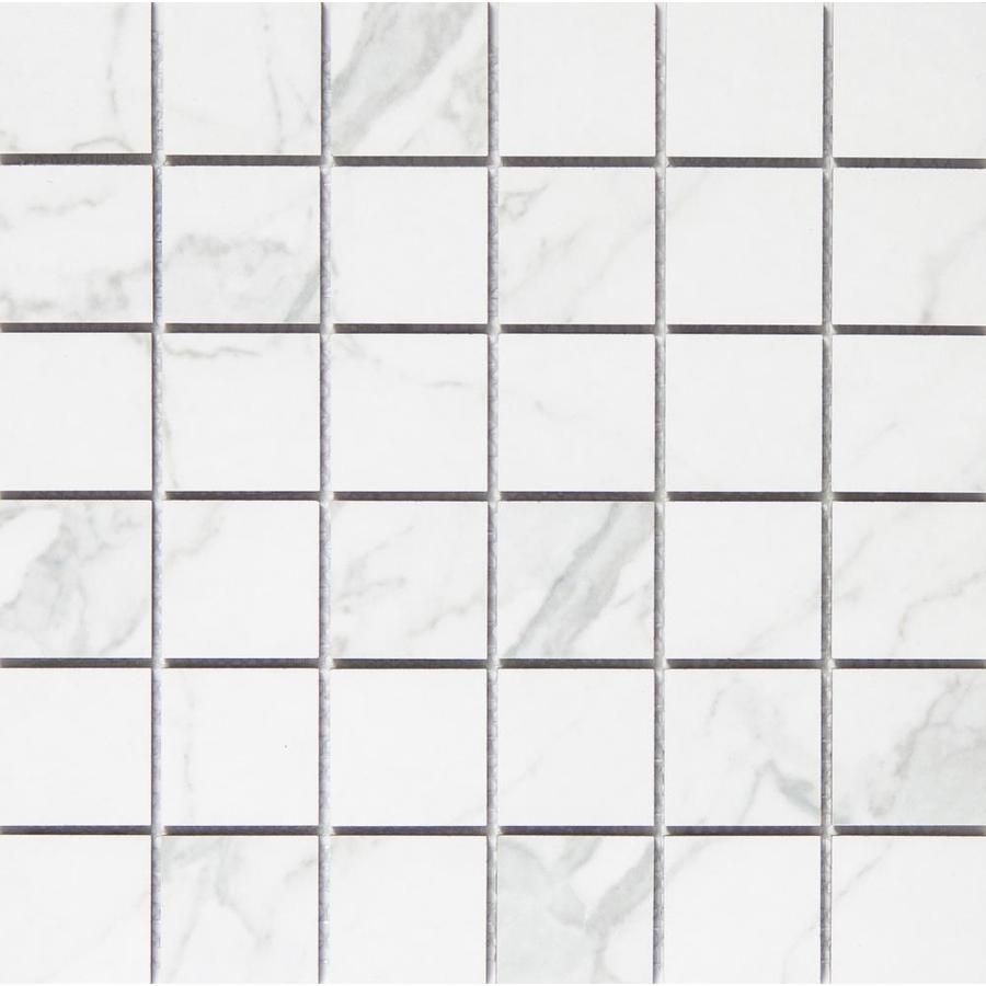 Emser Duomo Bianchi Porcelain Border Tile (Common: 13-in x 13-in; Actual: 12.99-in x 12.99-in)