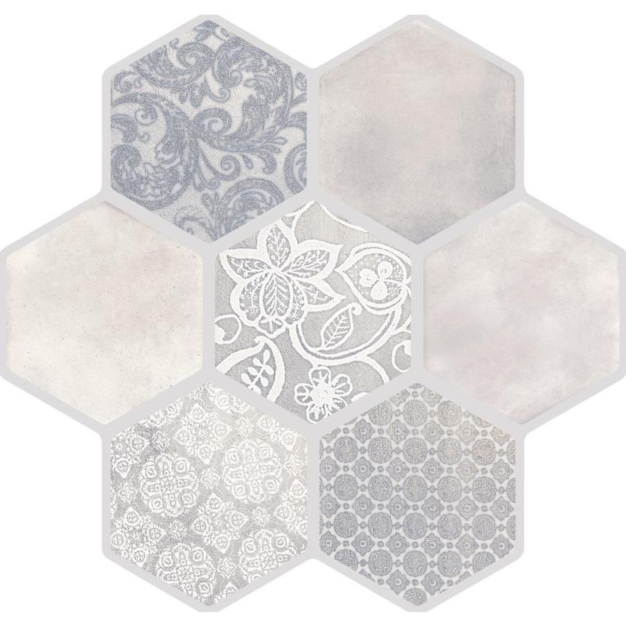 Emser VICE AND VIRTUE 9-Pack Beige Porcelain Floor And Wall Tile (Common: 18-in x 18-in; Actual: 17.72-in x 17.72-in)
