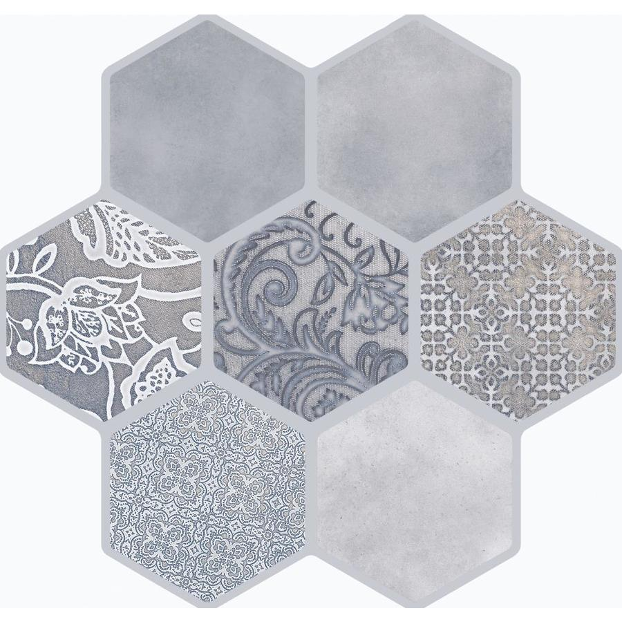 Emser VICE AND VIRTUE 9-Pack Gray Porcelain Floor And Wall Tile (Common: 18-in x 18-in; Actual: 17.72-in x 17.72-in)
