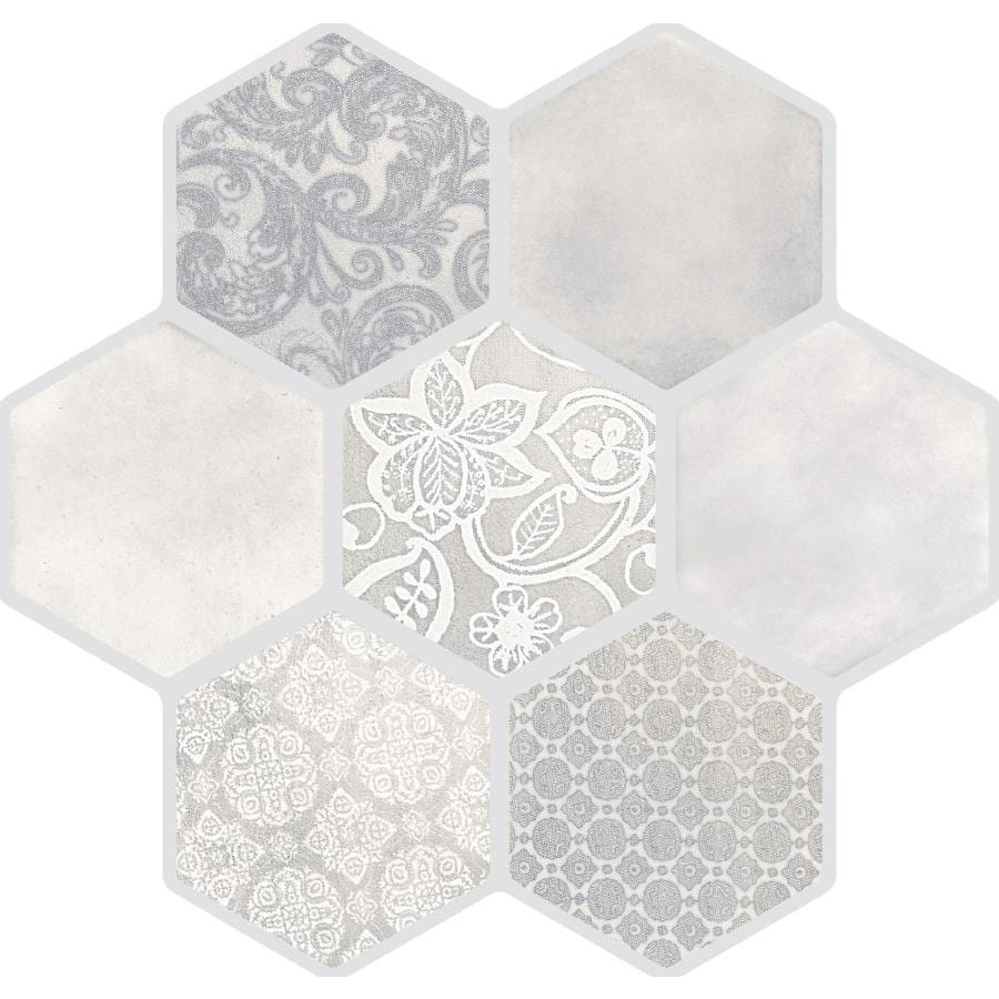 Emser VICE AND VIRTUE 9-Pack Ivory Porcelain Floor And Wall Tile (Common: 18-in x 18-in; Actual: 17.72-in x 17.72-in)