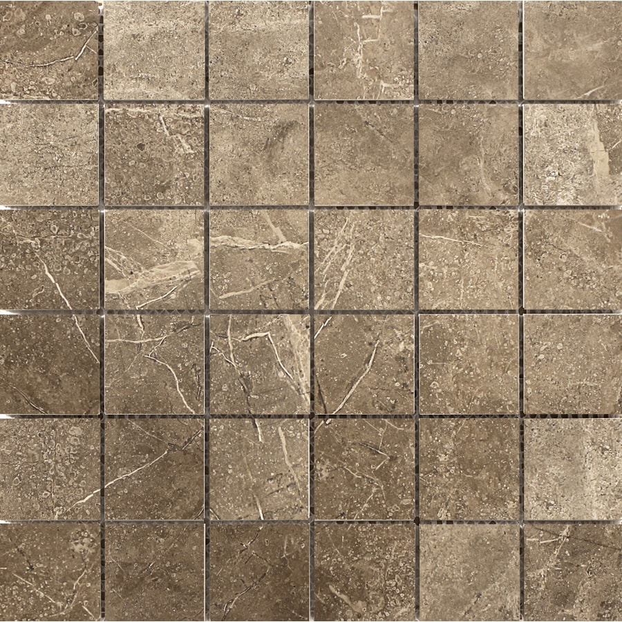 Emser Realm 11-Pack Region Uniform Squares Mosaic Ceramic Floor and Wall Tile (Common: 13-in x 13-in; Actual: 12.99-in x 12.99-in)