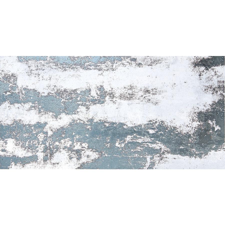 Shop Emser CHEMISTRY 8-Pack White Porcelain Floor and Wall Tile ...