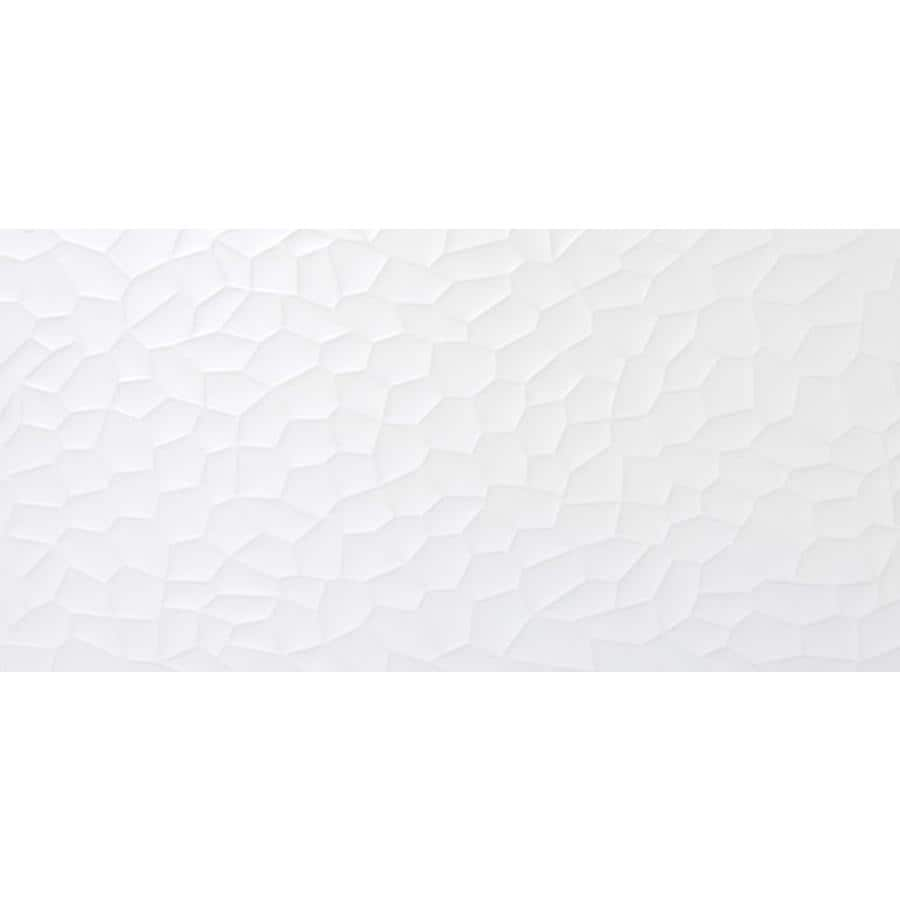 Emser JAZZ 8-Pack White Ceramic Wall Tile (Common: 12-in x 24-in; Actual: 11.81-in x 23.62-in)