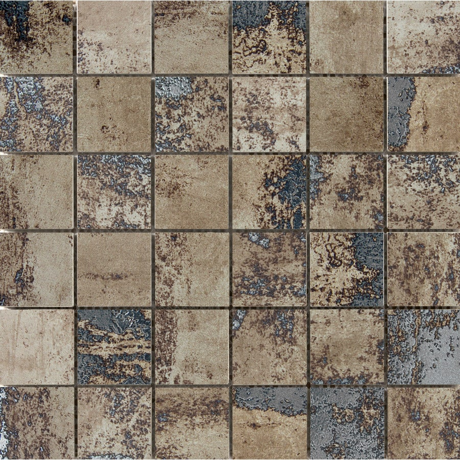 Emser Chemistry Brown Porcelain Border Tile (Common: 12-in x 12-in; Actual: 11.81-in x 11.81-in)