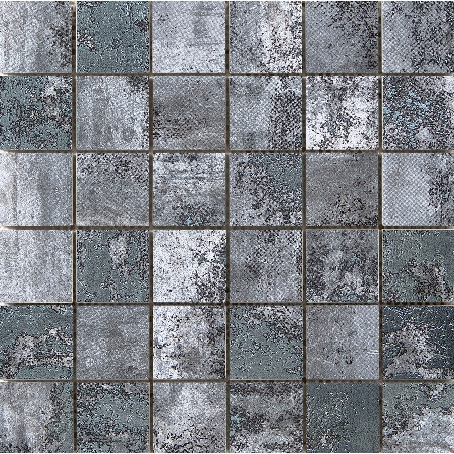 Emser Chemistry Gray Porcelain Border Tile (Common: 12-in x 12-in; Actual: 11.81-in x 11.81-in)