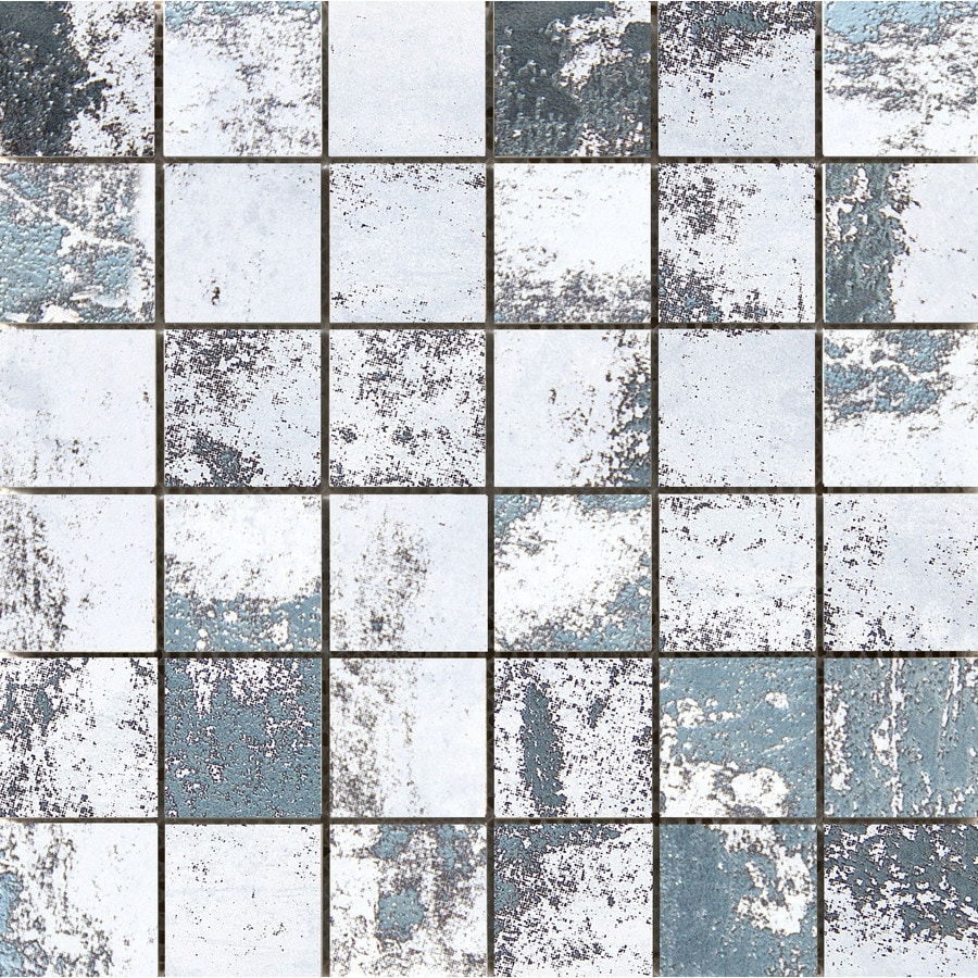 Emser Chemistry White Porcelain Border Tile (Common: 12-in x 12-in; Actual: 11.81-in x 11.81-in)