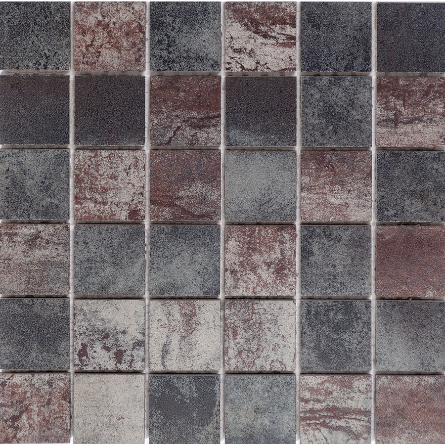 Emser Alchemy Multicolor Porcelain Border Tile (Common: 12-in x 12-in; Actual: 11.81-in x 11.81-in)