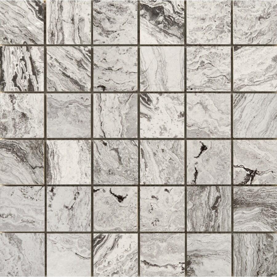 Emser Pergamo Bianco Porcelain Border Tile (Common: 13-in x 13-in; Actual: 13.02-in x 13.02-in)
