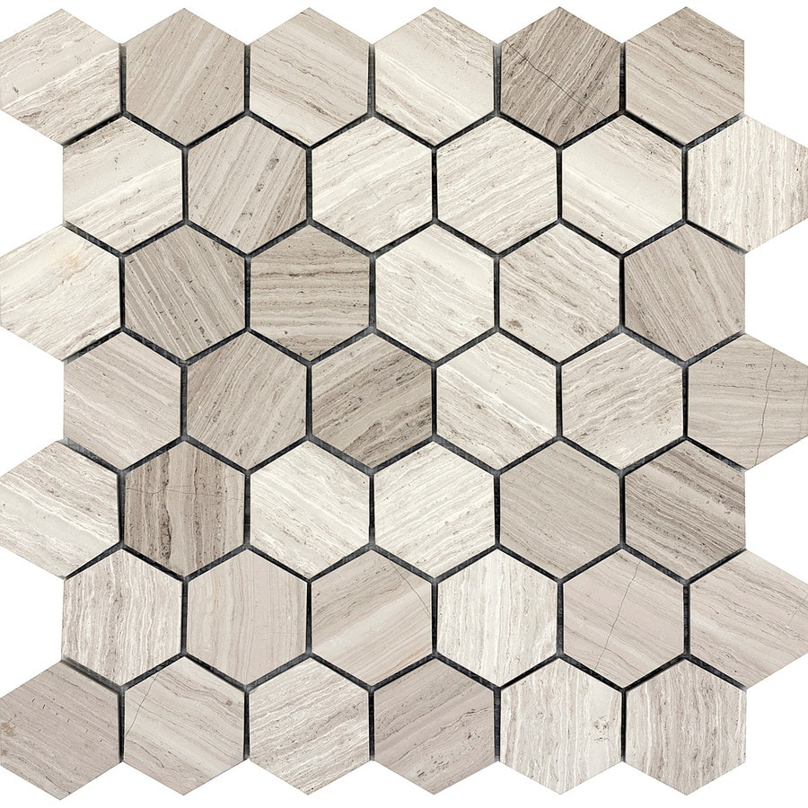 Emser Metro Cream Limestone Border Tile (Common: 12-in x 12-in; Actual: 12.01-in x 12.13-in)