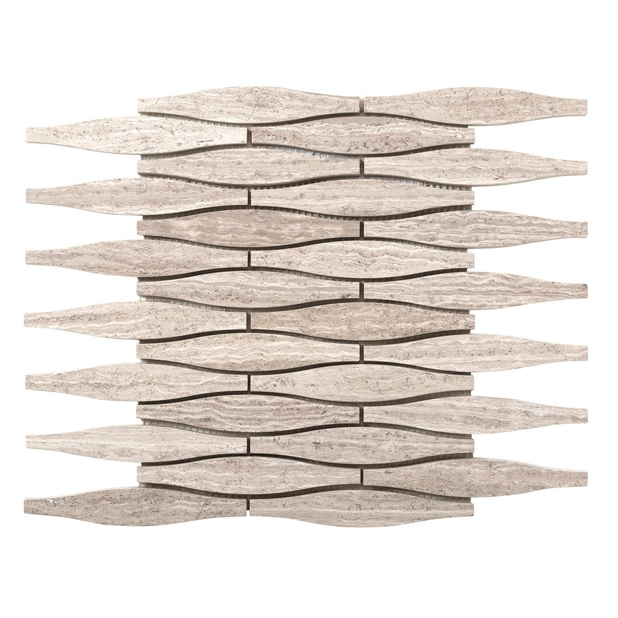 Emser Metro Cream Limestone Border Tile (Common: 12-in x 12-in; Actual: 12.01-in x 11.77-in)