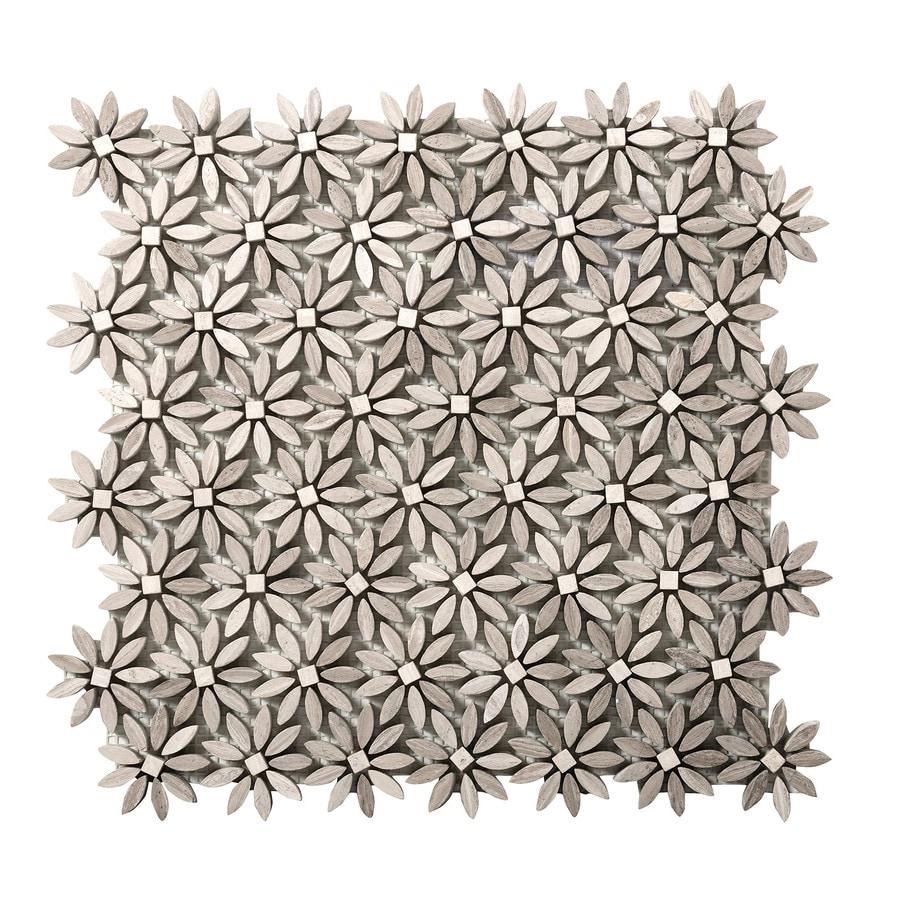 Emser Metro Cream Limestone Border Tile (Common: 12-in x 13-in; Actual: 13.15-in x 11.85-in)