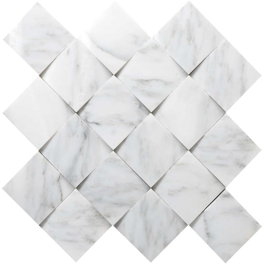 Emser Winter Frost Marble Border Tile (Common: 13-in x 13-in; Actual: 13-in x 13-in)