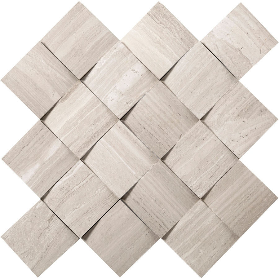 Emser Metro Cream Limestone Border Tile (Common: 13-in x 13-in; Actual: 12.52-in x 12.52-in)
