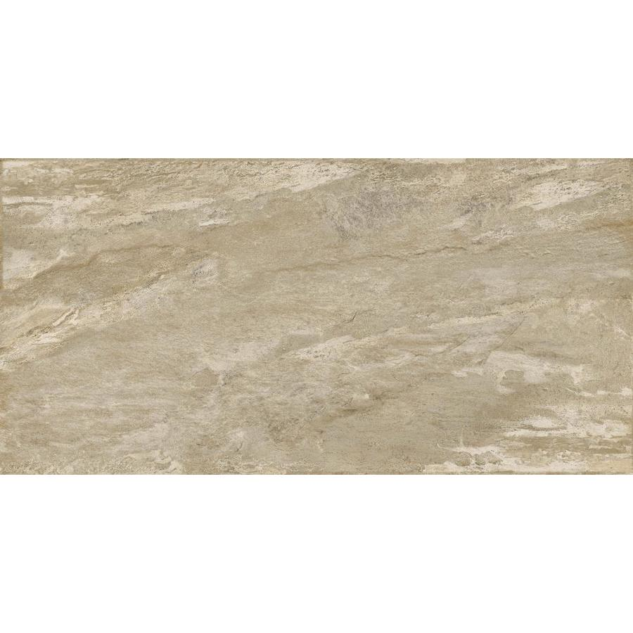 Emser -MileTONE 6-Pack Taupe Porcelain Floor and Wall Tile (Common: 12-in x 24-in; Actual: 11.81-in x 23.62-in)