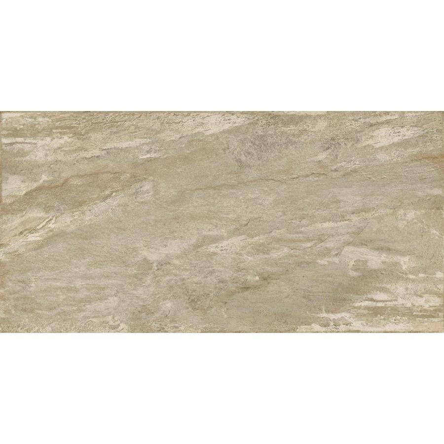 Emser -MileTONE 2-Pack Taupe Porcelain Floor and Wall Tile (Common: 24-in x 48-in; Actual: 23.62-in x 47.24-in)