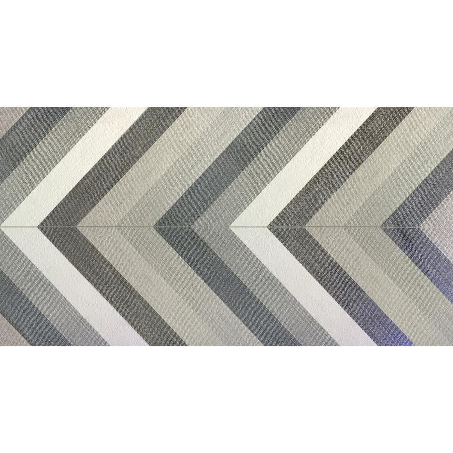 Emser DUNHAM 2-Pack Chevron Porcelain Floor and Wall Tile (Common: 24-in x 48-in; Actual: 23.23-in x 46.85-in)