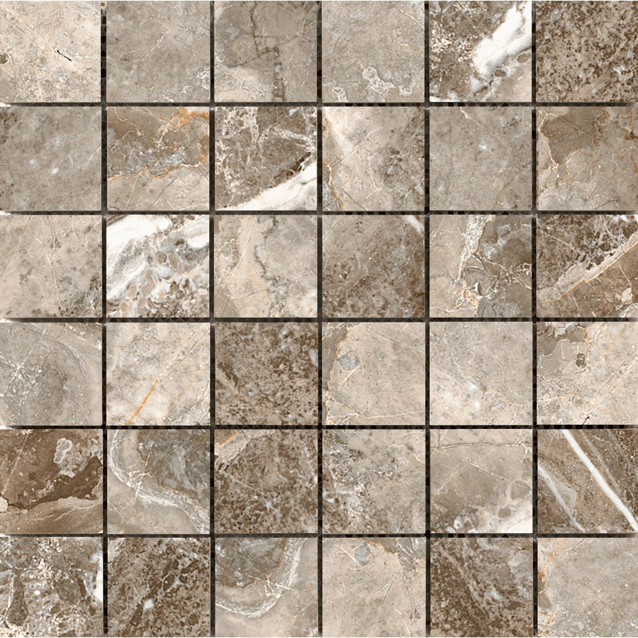 Emser Vienna Mozzart Porcelain Border Tile (Common: 13-in x 13-in; Actual: 13.07-in x 13.07-in)