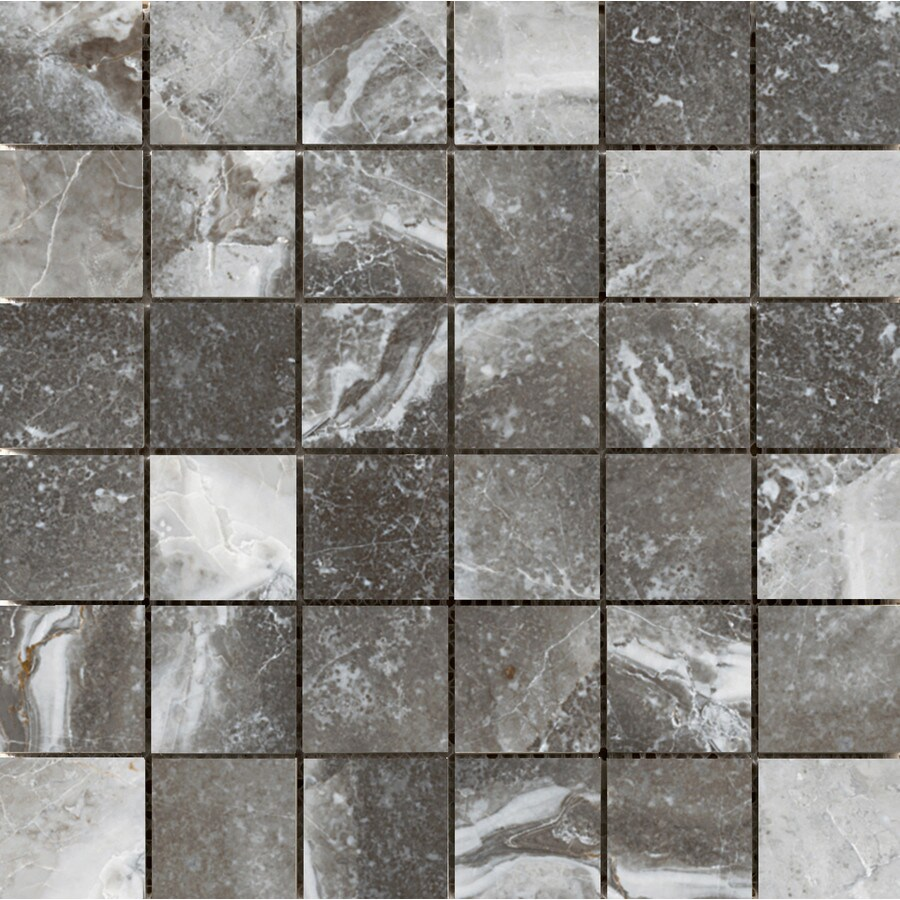 Emser Vienna Strausse Porcelain Border Tile (Common: 13-in x 13-in; Actual: 13.07-in x 13.07-in)