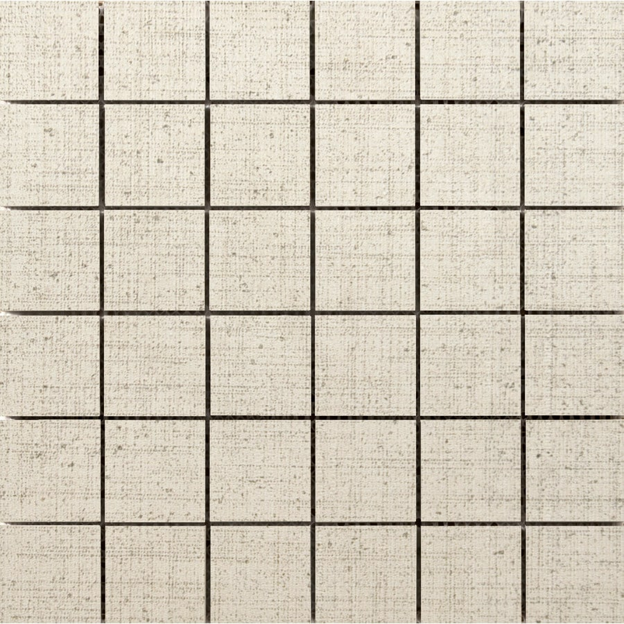 Emser Canvas Angora Porcelain Border Tile (Common: 12-in x 12-in; Actual: 11.81-in x 11.81-in)