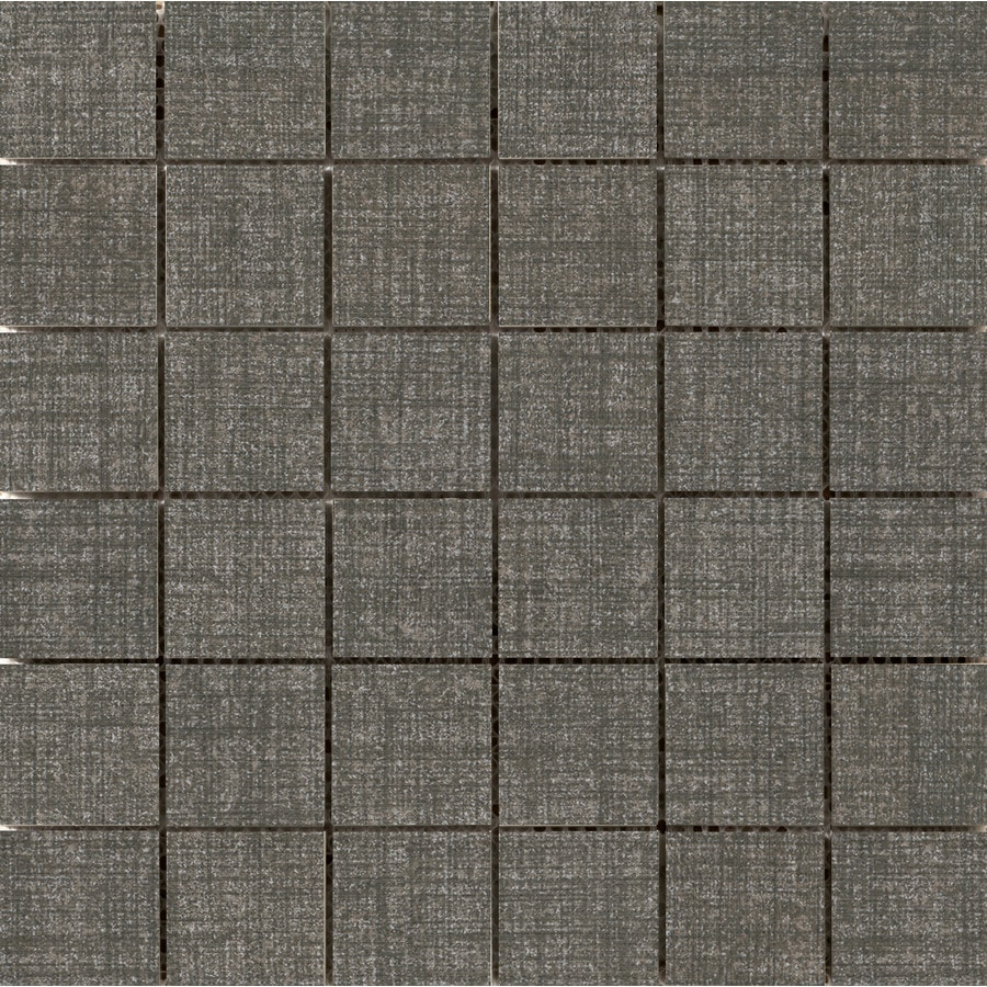 Emser Canvas Denim Porcelain Border Tile (Common: 12-in x 12-in; Actual: 11.81-in x 11.81-in)