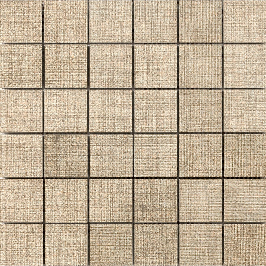 Emser Canvas Linen Porcelain Border Tile (Common: 12-in x 12-in; Actual: 11.81-in x 11.81-in)