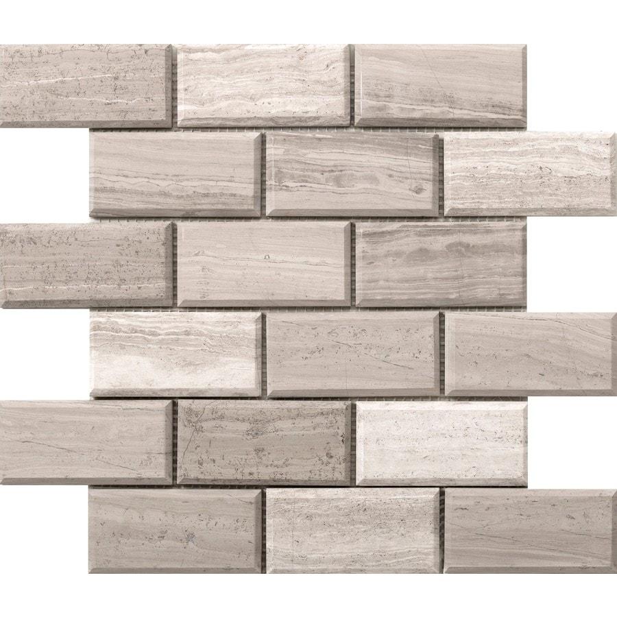 Emser Metro Cream Limestone Border Tile (Common: 12-in x 12-in; Actual: 12.01-in x 12.01-in)