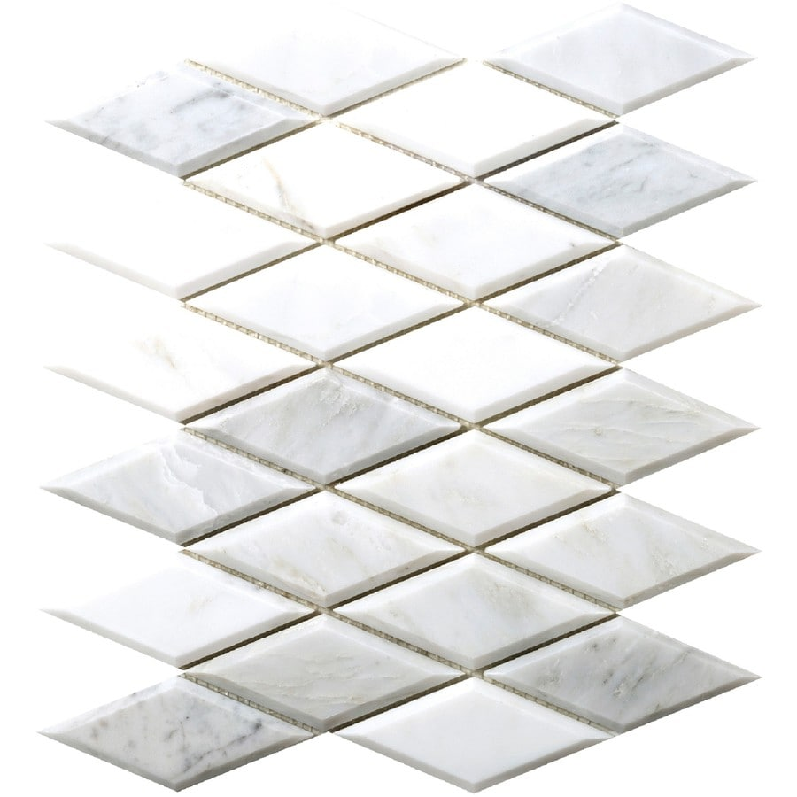 Emser WINTER FROST Natural Stone Marble Border Tile (Common: 10-in x 13-in; Actual: 10-in x 13-in)