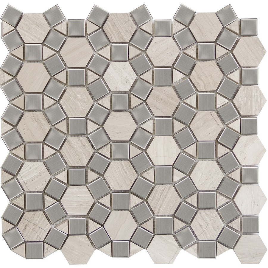 Emser METRO Cream Natural Stone Limestone Border Tile (Common: 12-in x 13-in; Actual: 11.57-in x 12.05-in)