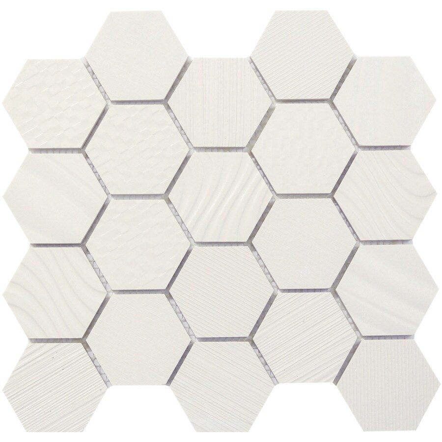 Emser SURFACE White Porcelain Border Tile (Common: 12-in x 14-in; Actual: 11.81-in x 13.58-in)