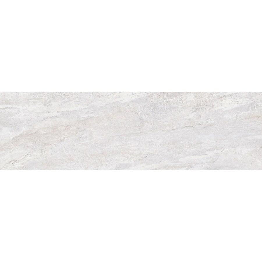 Emser MileTONE White Porcelain Bullnose Tile (Common: 3-in x 12-in; Actual: 12-in x 3-in)