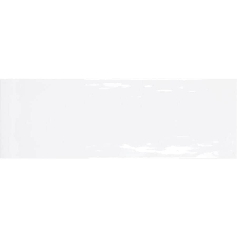 Emser ARTWORK 4-Pack White Ceramic Wall Tile (Common: 18-in x 36-in; Actual: 11.81-in x 35.43-in)