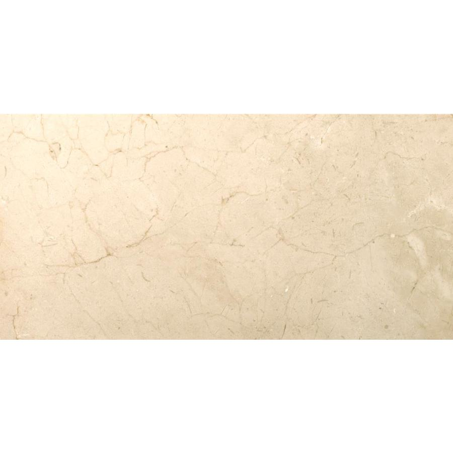 Emser MARBLE Crema Marfil Classico Floor and Wall Tile (Common: 12-in x 24-in; Actual: 12-in x 24-in)