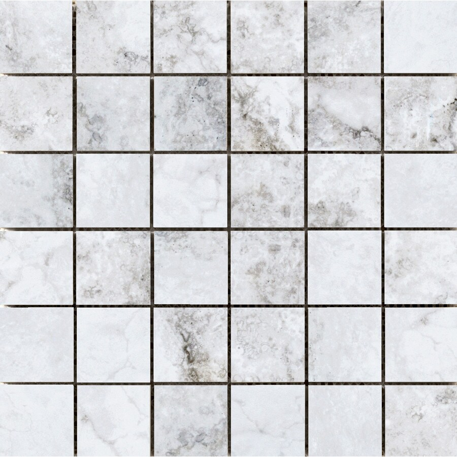 Emser Gateway Grigio Porcelain Border Tile (Common: 13-in x 13-in; Actual: 12.99-in x 12.99-in)