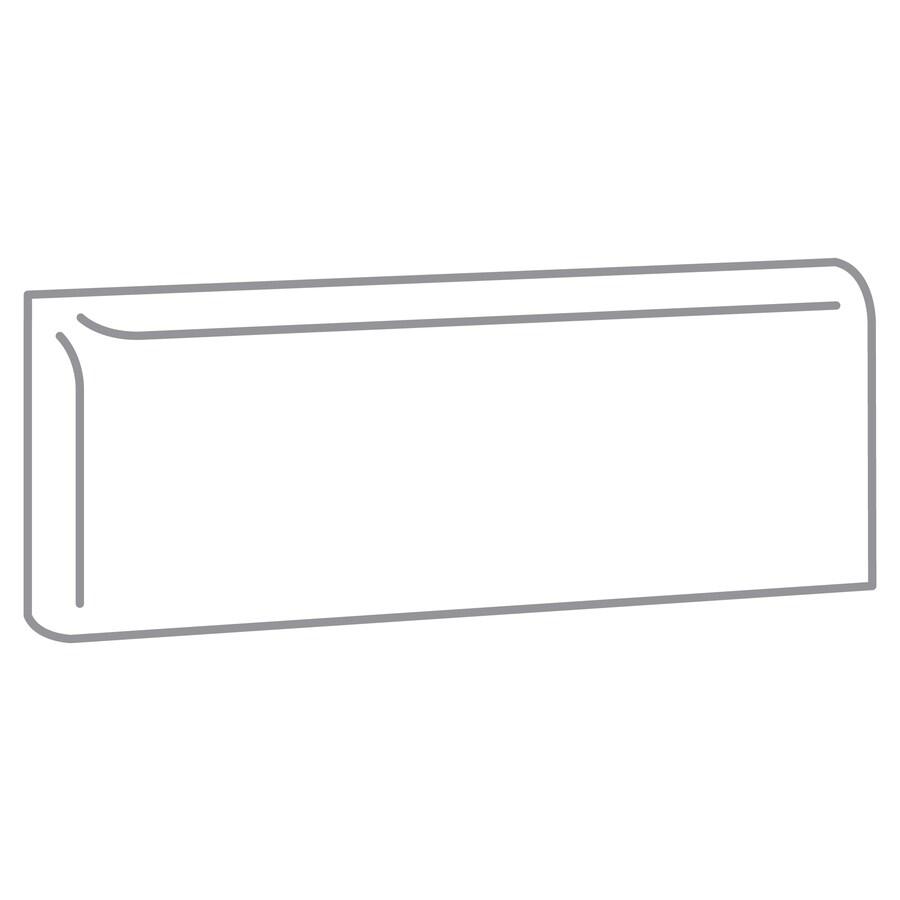 Emser Choice White Ceramic Mud Cap Tile (Common: 2-in x 6-in; Actual: 6-in x 2-in)