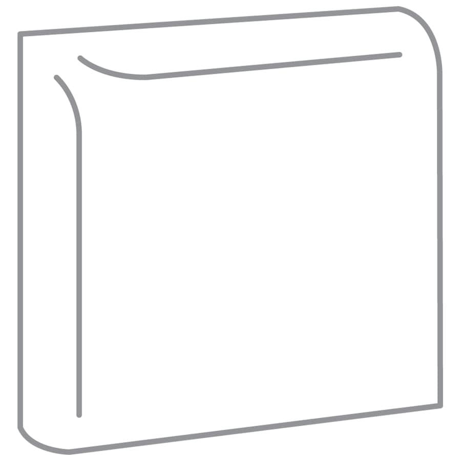 Emser Choice White Ceramic Mud Cap Corner Tile (Common: 2-in x 2-in; Actual: 2-in x 2-in)