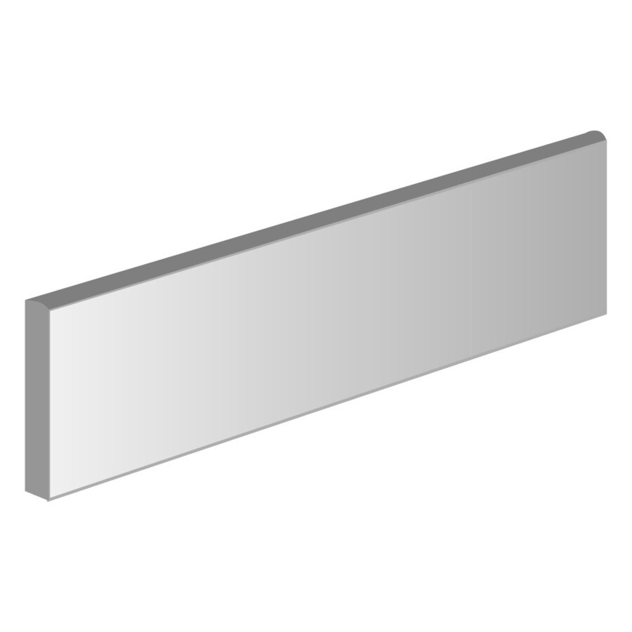Emser Surface White Porcelain Bullnose Tile (Common: 3-in x 12-in; Actual: 12-in x 3-in)
