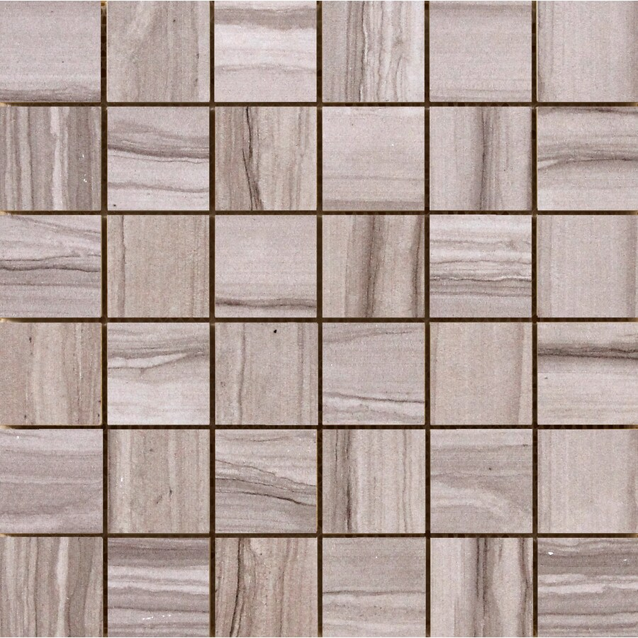Emser Chronicle Script Porcelain Border Tile (Common: 12-in x 12-in; Actual: 11.69-in x 11.69-in)