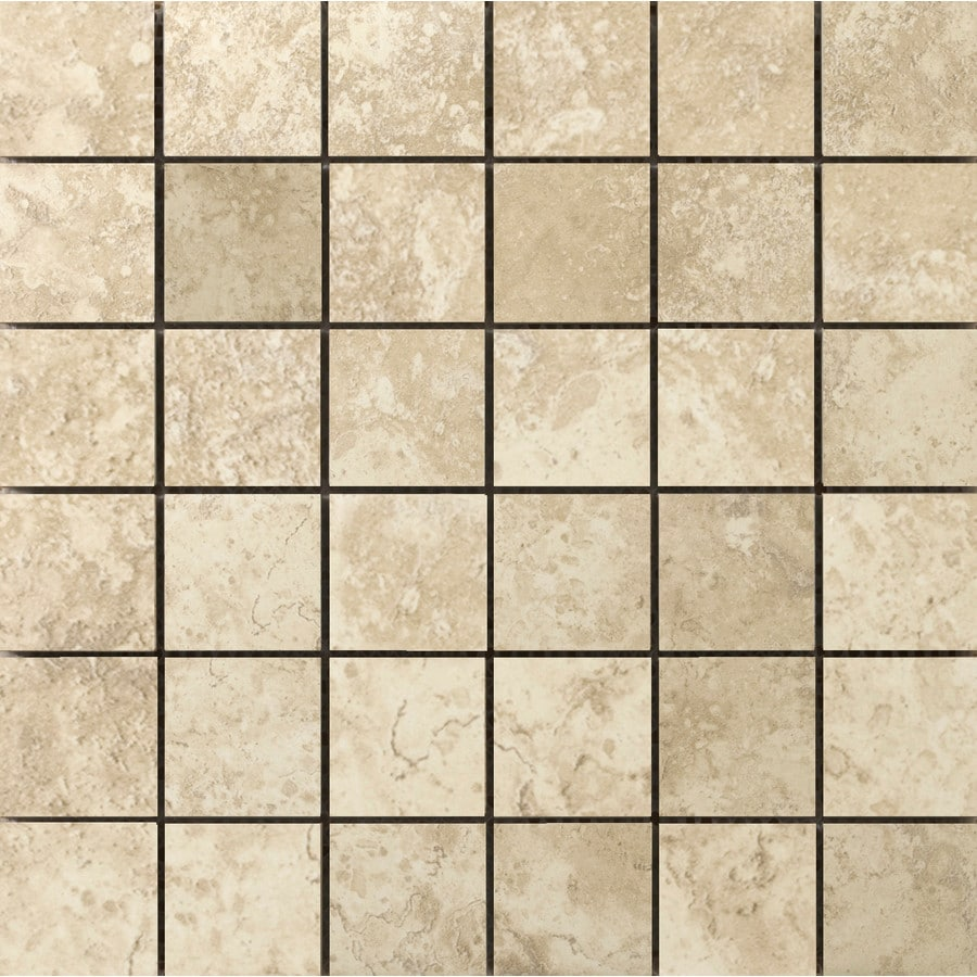 Emser Lucerne Alpi Porcelain Border Tile (Common: 13-in x 13-in; Actual: 12.99-in x 12.99-in)