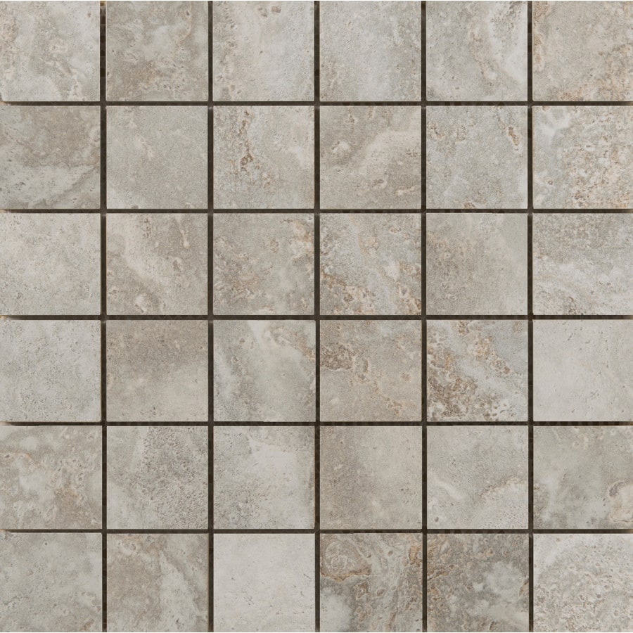 Emser Lucerne Matterhorn Porcelain Border Tile (Common: 13-in x 13-in; Actual: 12.99-in x 12.99-in)