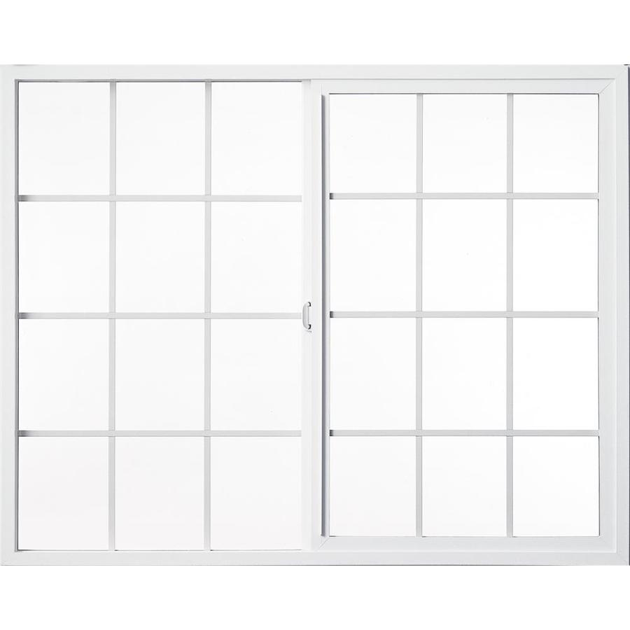 Milgard Style Line Left-Operable Vinyl Double Pane Single Strength Egress Sliding Window (Rough Opening: 48-in x 48-in; Actual: 47.5-in x 47.5-in)