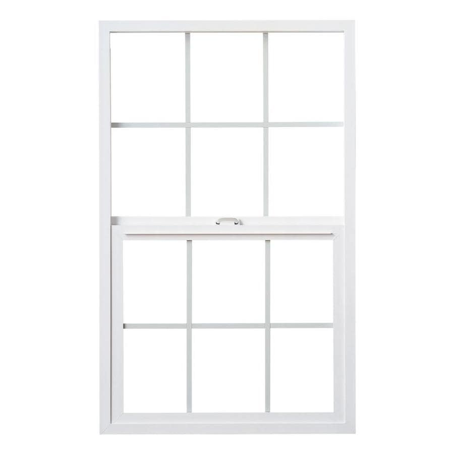 Milgard StyleLine Vinyl Double Pane Single Strength Egress Single Hung Window (Rough Opening: 36-in x 60-in; Actual: 35.5-in x 59.5-in)