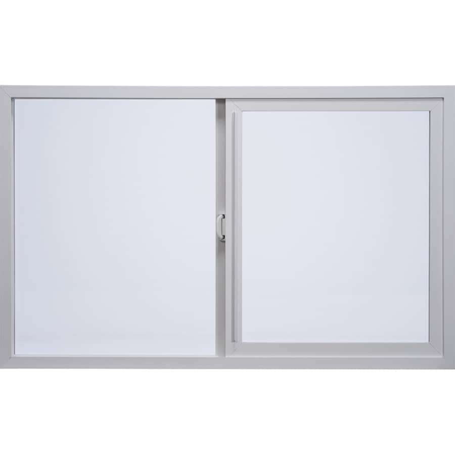 Milgard Style Line Left-Operable Vinyl Double Pane Single Strength Egress Sliding Window (Rough Opening: 72-in x 60-in; Actual: 71.5-in x 59.5-in)